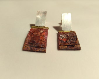 "Earrings ""Oxid II"""