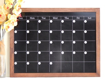 chalkboard calendar medium size magnetic and custom framed magnets sold separately