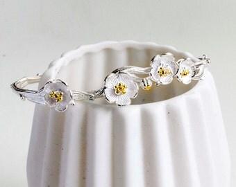 Flower bracelet - 925 Sterling Silver Edition