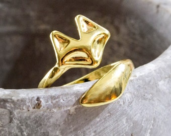 Fox ring gold