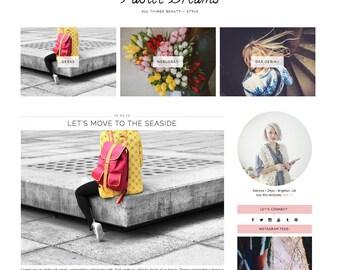 "Wordpress Theme ""Pastel Dreams"" // Responsive Premade Blog Design Template Instant Download"