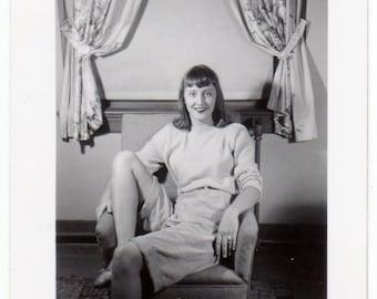 Girl Next Door ~ Vintage Photo  ~ amateur model