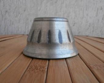 Vintage Stunning Norwegian Tin Candleholder, Tinn Norge, Scandinavian Pewter Home Decor, Mid Century ,Signed Candle Holder