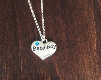 gift for new mom, baby boy necklace, baby boy jewelry, baby necklace, baby jewelry, baby, newborn necklace, newborn boy, newborn jewelry