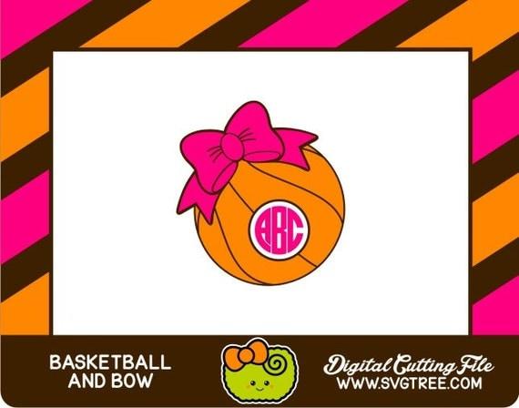 Basketball Monogram Basketball Svg Bow Monogram Svg Svg By