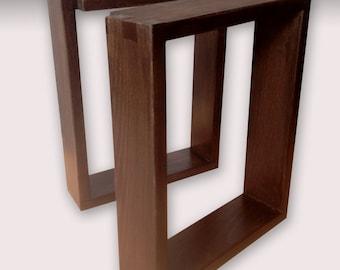 Pair Hardwood Bench/Table Legs