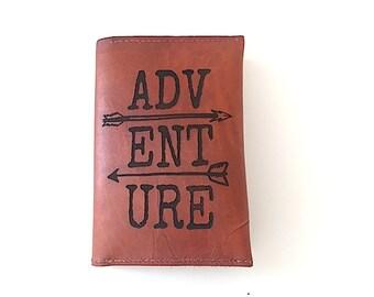 Adventure Passport Holder,  Quote, Best Friend Gift, Leather Passport Keeper, Custom Passport Wallet, Quote, Luggage Tag Passport Set,