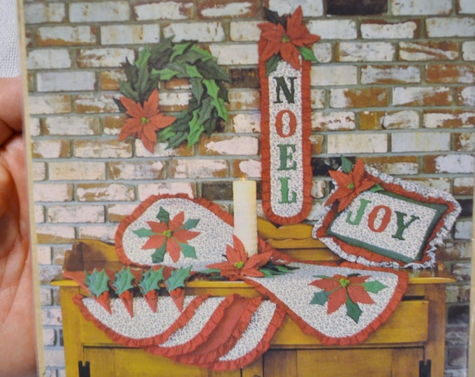 Noel by Gingham Goose Christmas Decor Applique Quilting Sewing Vintage Pattern PanchosPorch