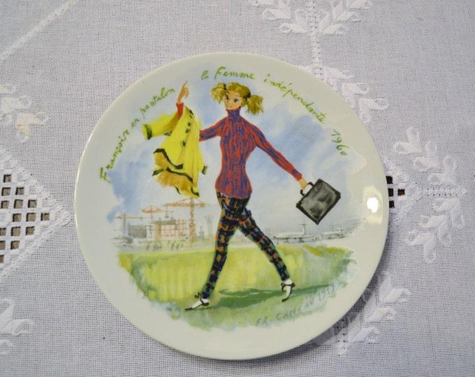 Vintage Limoges Darceau Decorative Plate Les Femmes du Siecle Woman of the Century Certificate and Box Panchosporch
