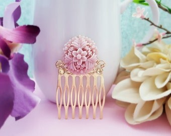 Lilac Bridesmaid Gift, Purple Hair Comb, Lavender Wedding, Light Purple Hair Accessory, Violet Bridesmaid Hair Pin, Purple Wedding, H2052