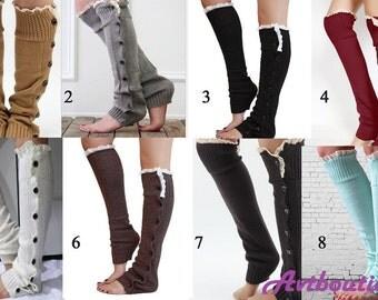 Boot socks - women leg warmers - boot cuffs - socks for boots - knit leg warmers - lace leg warmers - leg warmers, crochet boot socks -gift
