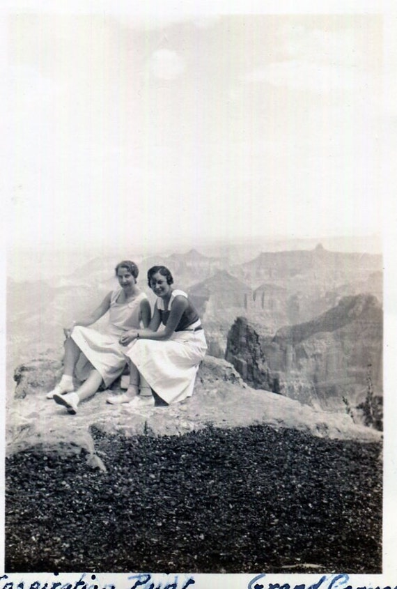 Vintage Photo..Love at Inspiration Point 1930's, Original Photo, Old Photo Snapshot, Vernacular Photography, American Social History Photo