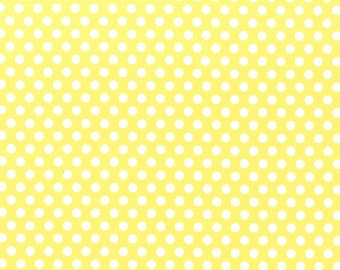 Polka Dot Fabric - Kiss Dot by Michael Miller CX 5518 Yellow - Priced by the 1/2 yard