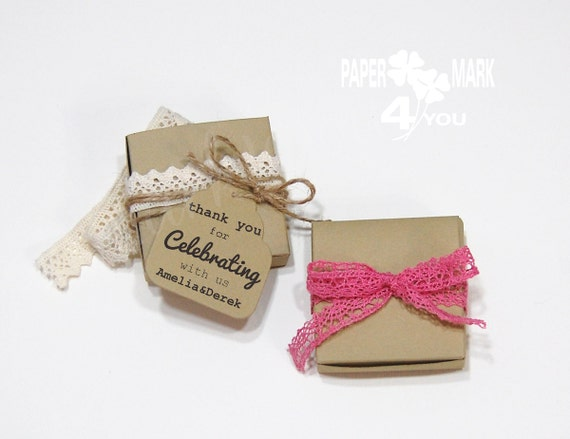 Wedding Favor Boxes Unique Personalized Handmade By PaperMark4You