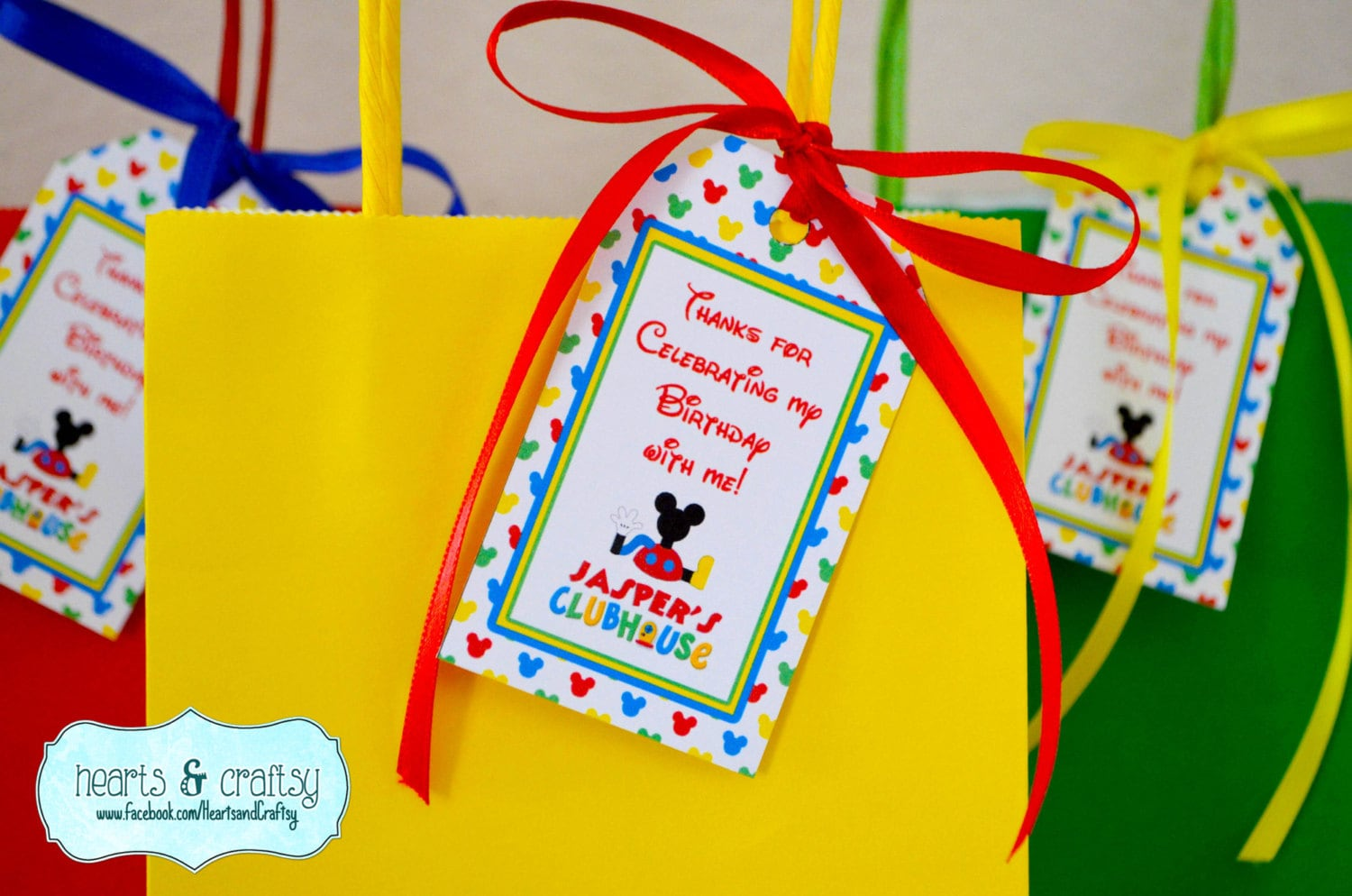Mickey Mouse Clubhouse Party Favor Tags / Goodie Bag Tags ...