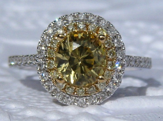 Yellow Sapphire Engagement Ring Canary Yellow Sapphire In