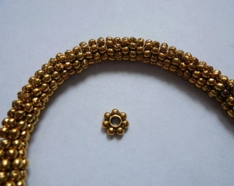 """8"""" strand Lead&Nickel free Antiqued Gold SILVER PEWTER 6mm rondelle BEADS"""