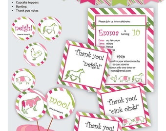 Lil Cowgirl : Edit & Print at Home Party Stationery