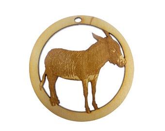 Donkey Ornament - Donkey Ornaments - Donkey Gift - Unique Donkey Gifts - Donkey Christmas Decor - Mule Ornament - Personalized Free