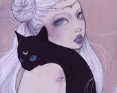 "Poster ""Serenity"" (Illustration, Art, Sailor Moon, Comic, Print, Pop surrealism,fantasy )"