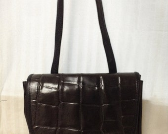 Albi,Leather bag, Made in Italy, Leather Purse, Black,Brown ,Shoulder Bag
