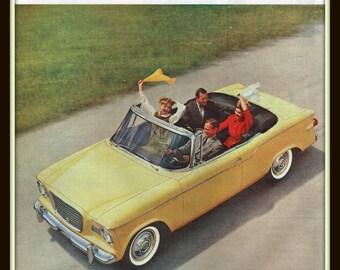 1960 Studebaker Lark vintage print ad- Six Stunning Styles for '60- Ephemera, nostalgia, reference