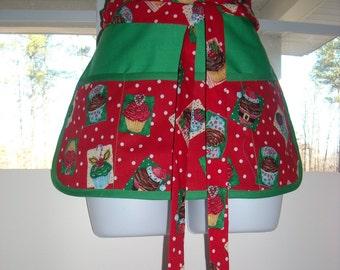 Christmas Cupcakes Craft Apron