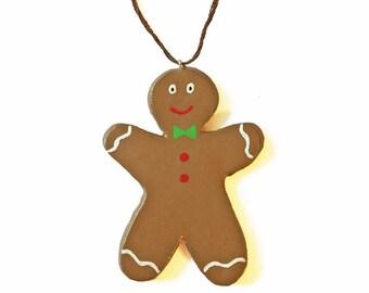 Gingerbread Man Ornament - Christmas Ornament - Polymer Clay Ornament - Cookie Ornament - Christmas Cookie Ornament - Cute Ornament