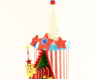 Circus Animal Tent- Cake Topper