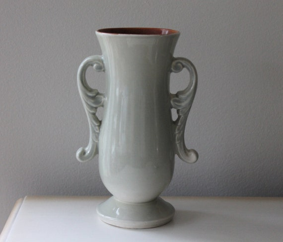 Vintage Red Wing Usa Pottery Vase 1351 Light Sage Green Art