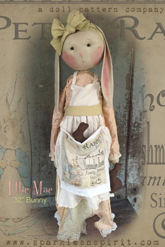 """NEW! Pattern: Ellie Mae - 32"""" Standing Bunny"""