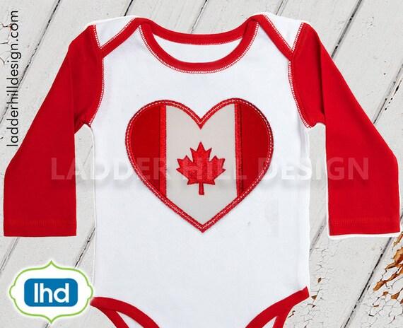 Canada flag applique embroidery design canadian