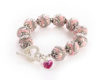 BellaGemaNails Pink Chunky Bracelet