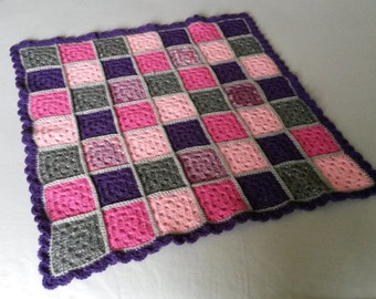 Pink and Purple Baby Blanket