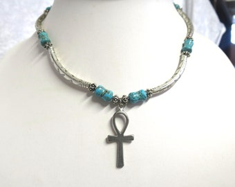 Ankh Cross with Turquoise beads  CCS97