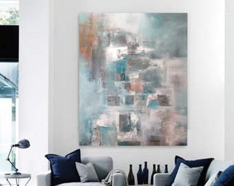 "36"" x 28"" ORIGINAL ABSTRACT PAINTING, Landscape, Large painting, Acrylic on canvas"