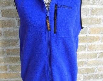 Vintage LL Bean Polar Fleece Vest / LL Bean Fleece Vest / Retro Fleece Vest / Made in USA / Women's S