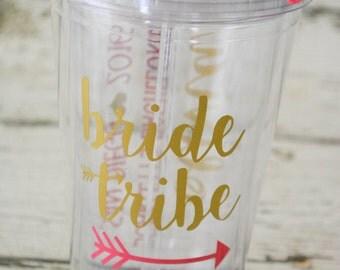 Bride Tribe Tumbler Bachelorette Bridal Party - Personalized 16oz