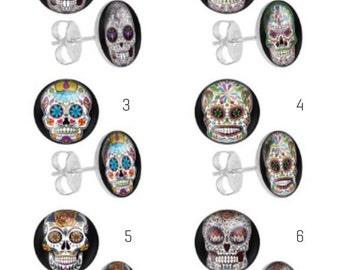 Sugar Skull Day of The Dead Earrings