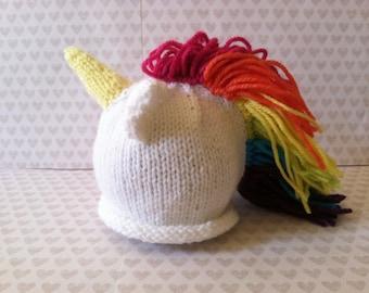 Unicorn Baby Knit Hat