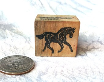 Small Running Horse Rubber Stamp Bowers Rubber stamp Small Horse Stamp, Galloping horse stamp,  Equestrian stamp, Realistic STamp, Animal