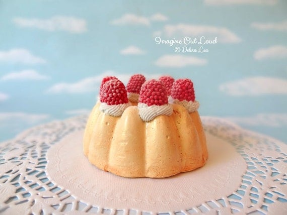 Fake Mini Bundt Cake Raspberries Charlotte Shortcake