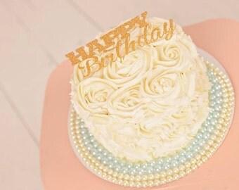 Happy Birthday Cake Topper, cake topper, happy birthday