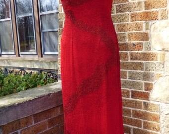 Vintage Dress Prom Dress Beaded Dress Formal Je Matadi Dress