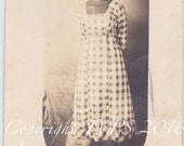 Reserved Victorian Princess...Vintage Photograph, RPPC Attractive African American  Young Lady
