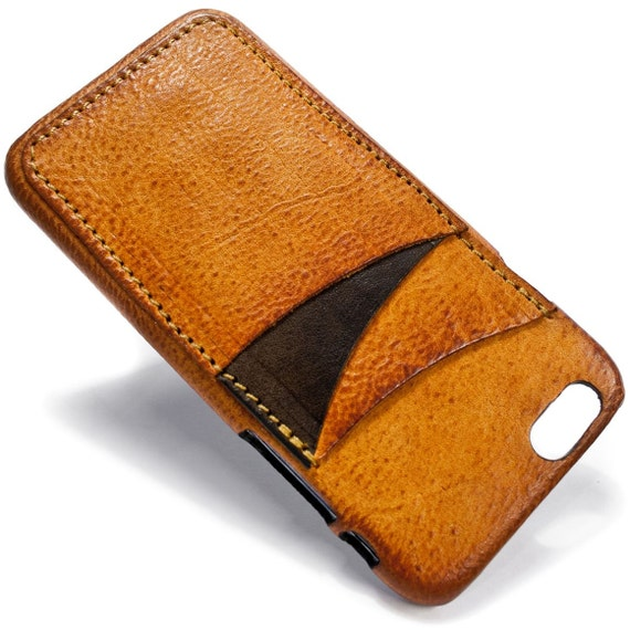 "NEW iPhone 7 display 4.7"" Italian Leather Case with 3 credit cards holder vertical SLOTs choose the color of BODY and ACCENT"