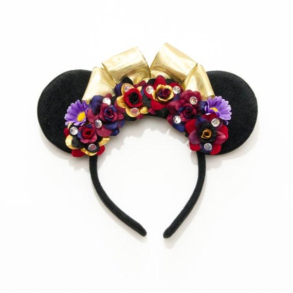 Evil Queen Mouse Ears Headband Villain Mouse Ears FlowerDisney Evil Queen Ears