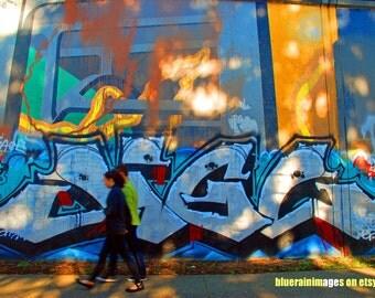 Waving To Myself, Graffiti, Urban Art, Street Art, City Art, Urban Photography