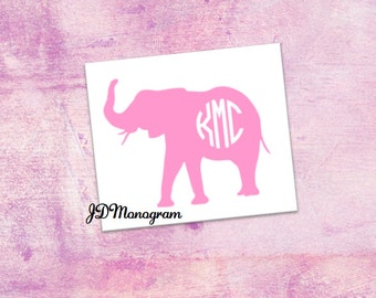 Elephant Monogram Sticker