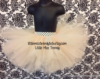 Beige Tutu Skirt, Antique Ivory Tutu, Newborn to 6T BeigeTutu, Tutu Skirt in Beige, Dark Ivory Tutu Skirt